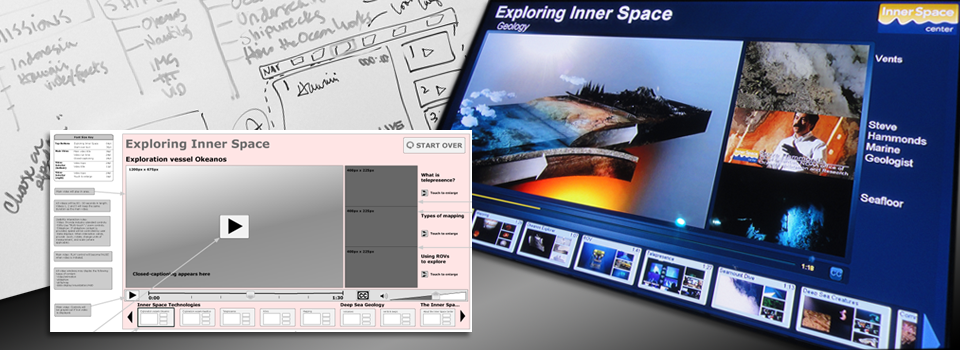 Sample of UI work for Inner Space